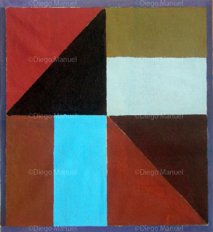 """Composición nº 3"" , acrylic on canvas, 36.5 x 33.5 cm, 2013"