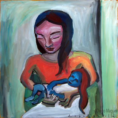 mujer-con-nina-azul
